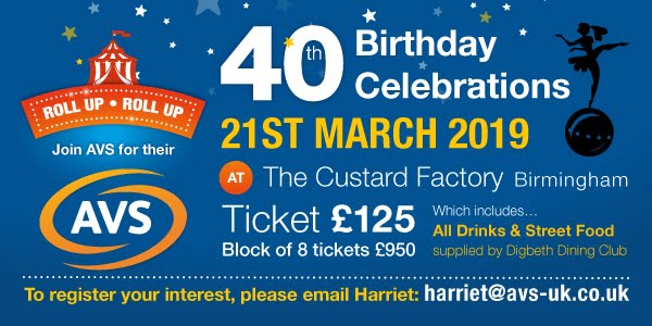 AVS is going to be Fab 40! Are you coming to the party?   Planet Vending